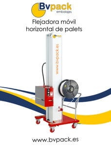 Flejadora movil horizontal de palets