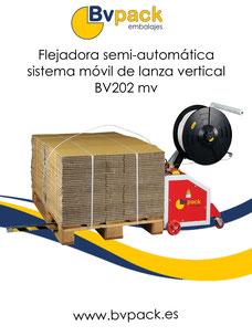 flejadora semi automatica sistema movil lanza vertical bv202-1